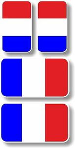 Vinyl-decal-group-of-4-French-flags-Extra-small-45mm-amp-35mm-France-flags