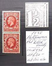 GB 1935 G.V - 1½d Retouch As Described U/M NB591