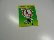 1990 Fleer Baseball Logo Stickers St. Louis Cardinals Baseball Quiz on back