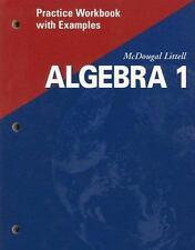 Algebra 1: Practice Workbook with Examples