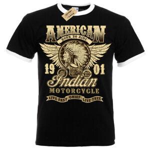 Indian-chief-T-Shirt-motorcycles-american-biker-t-shirt-Mens-RInger