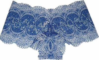 Victoria/'s Secret YELLOW Panty Crochet Lace Shortie Boyshort Medium NwT