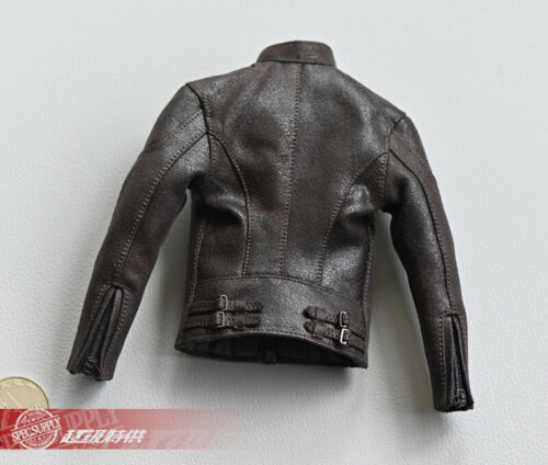 """1//6 Captain America Retro Motorcycle Jacket Clothes Fit 12/"""" Male PH Body"""