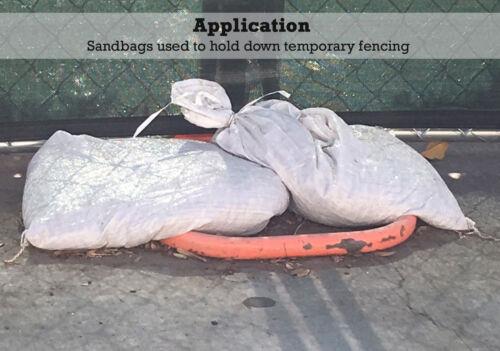 """Qty: 800 Sandbag Sand Bags Bag Poly by Sandbaggy Sandbags White 14/"""" x 26/"""""""