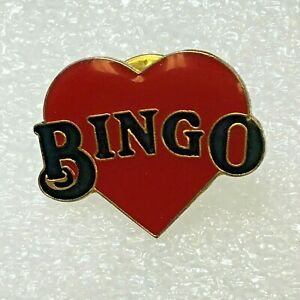 Vintage-Bingo-Red-Heart-Epoxy-Coat-Lapel-Tack-Pin