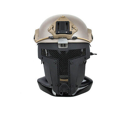 Black Airsoft SPT Mesh Full Face Mask Sparta Tactical Mask AF Helmet Mask