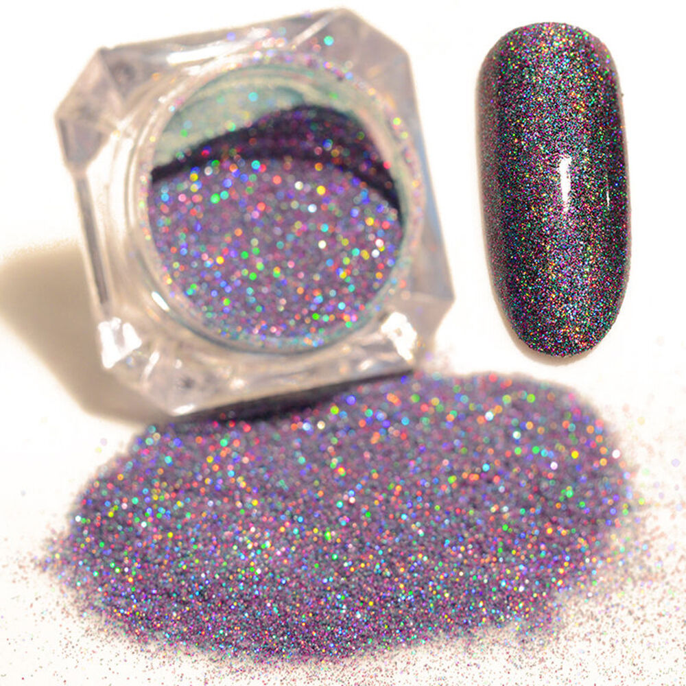 Mixed Starry Holographic Laser Powder Nail Art Glitter Powder Beauty ...