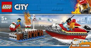 LEGO-City-60213-pompiers-au-PORT-NOUVEAU-Neuf-dans-sa-boite