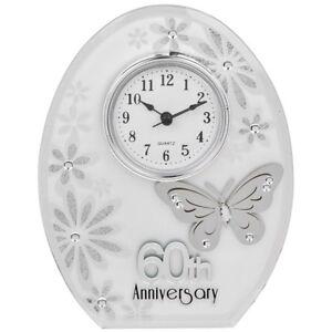 60th Wedding Anniversary Clock 60 years of Marrage Diamond ...