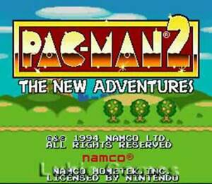 Pac-Man-2-SNES-Super-Nintendo-Game-Pacman
