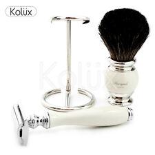 Antique Shaving Set Badger Hair Shaving Brush Double Edge Safety Razor Holder