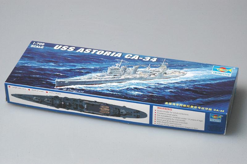 05743 Trumpeter USS New Orleans-Class Cruiser Astoria CA-34 1942 1 700 Kit Model