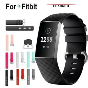 For-Fitbit-Charge-3-Silicone-Wrist-Strap-Wristband-Replacement-Watch-Accessory