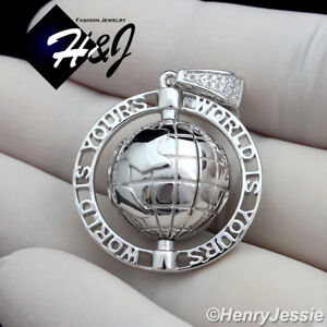 Blanc Rond Sertis Pendentif 25 mm-Argent Sterling 925-Stamping charme Nouveau