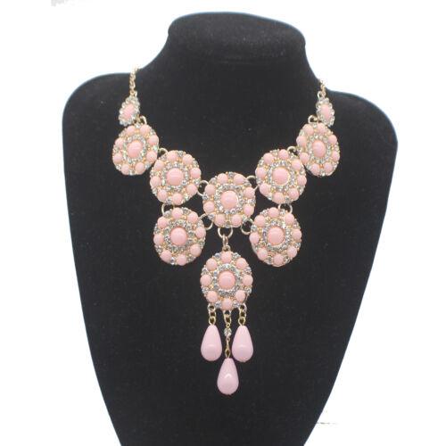Fashion Chunky Statement Charm Pendant Chain Crystal Jewelry Choker Necklace New
