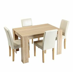 Dining Room Table Wood Colour Home Kitchen Furniture 2 4 Person Breakfast Table Ebay