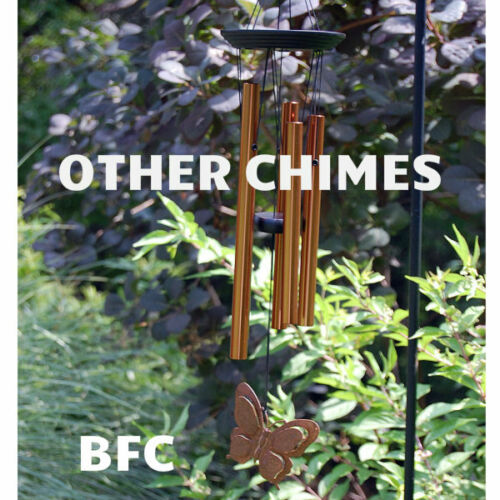 "Medium AGMS 25/"" ash wood 6 silver tubes Woodstock Chimes Amazing Grace Chime"