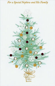 Glitter Christmas Cards.Details About Gold Glitter Tree Nephew Christmas Card Greeting Card By Freedom Greetings