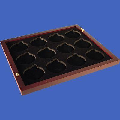 Display Box for 2 Trays Slab Challenge Capsule Tetra Mahogany Matte Finish