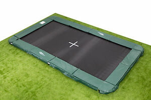10x17ft In Ground Rectangle Trampoline Inc Pads Mat