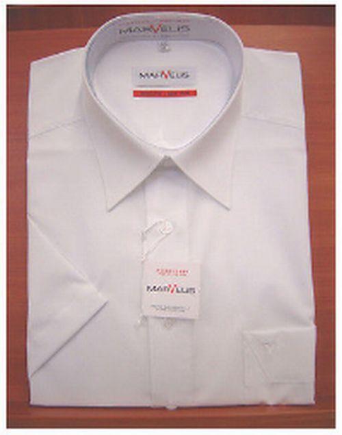 Camicia Camicia Camicia uomo tinta unita manica corta marvelis 100% cotone no-stiro 6907bb