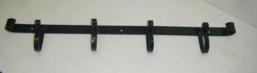 Fait main crochet en fer forgé cintre casserole noir quatre crochet rack de tangente
