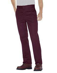 Dickies Mens Original Fit 874 Work Pant Maroon Classic Work Uniform New