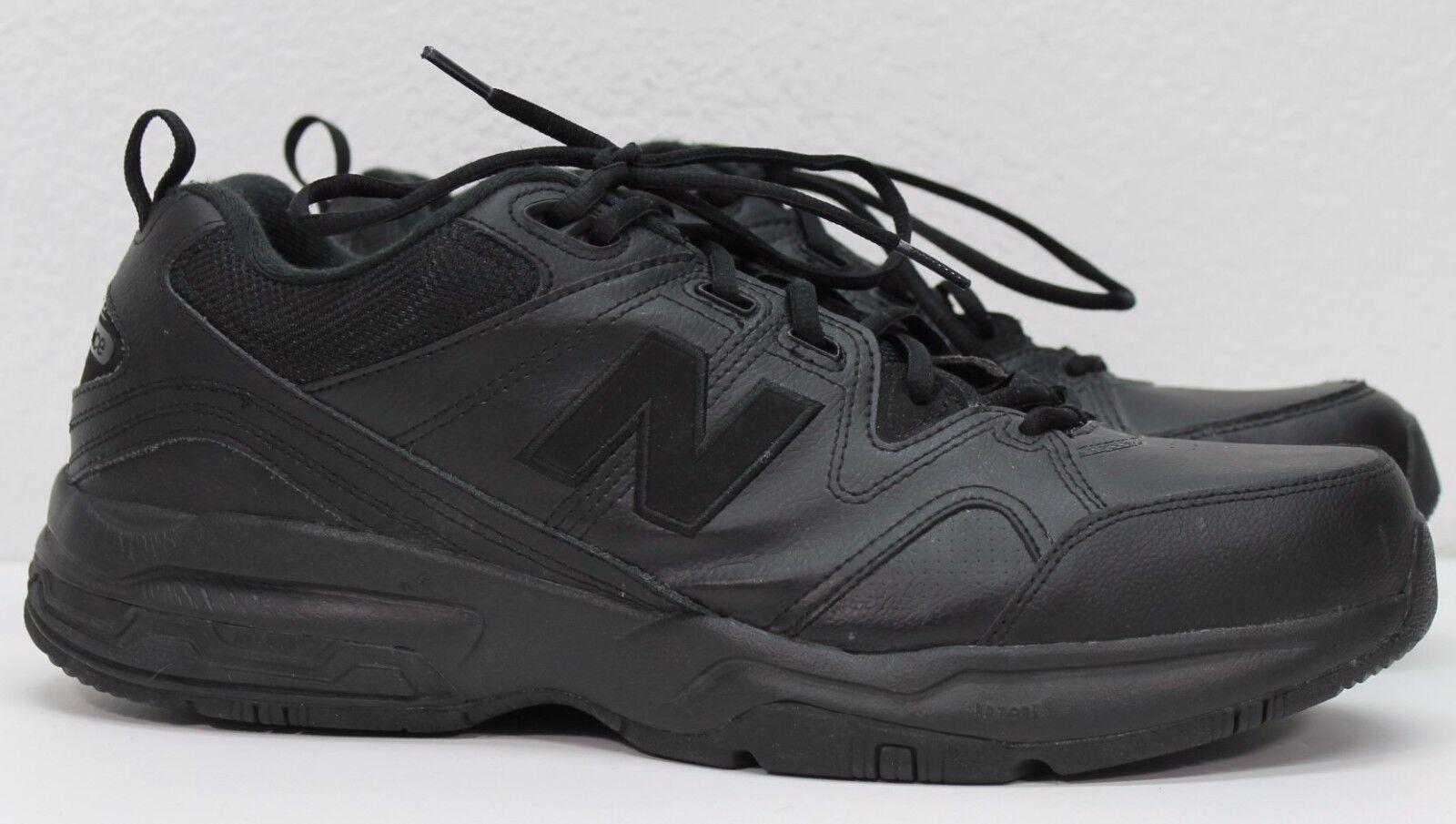 New Balance 609 Men's MX609V2B Black Leather Walking shoes 15 D US Med 50 CM