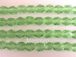 Crystal AB 25 6 mm Czech Glass Firepolish Beads