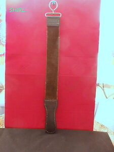 "LEATHER RAZOR STROP  17.1/2"" LONG - 2"" WIDE     LEATHER BOTH SIDES  -  NEW"