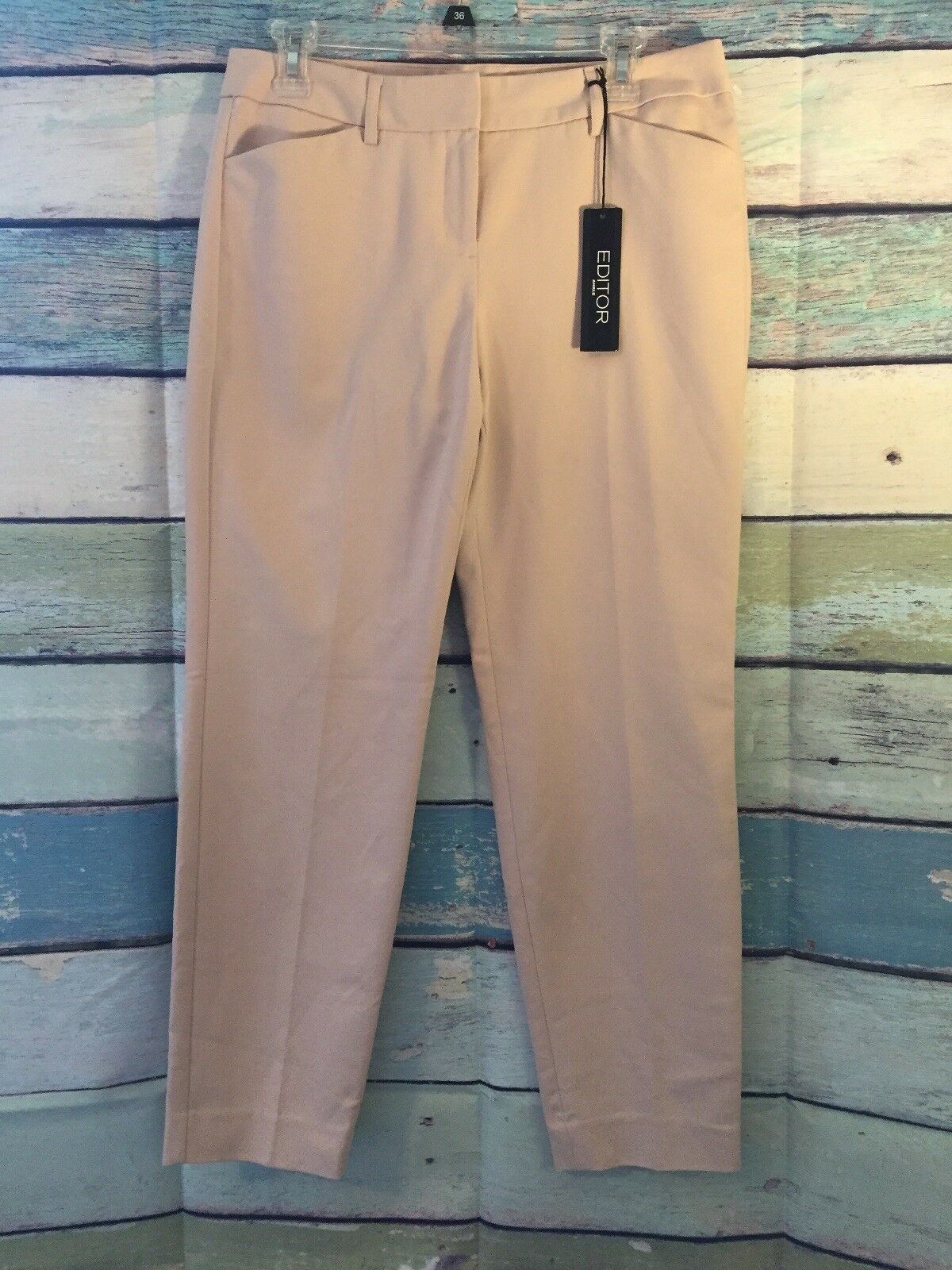 Express Editor Ankle Cream colord Women's Pant Size 6R NWT
