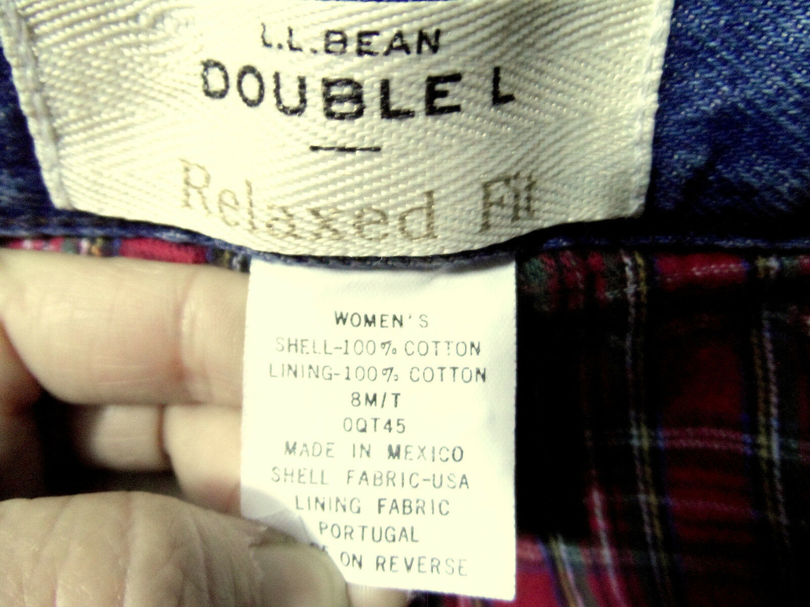 L.L. BEAN Flannel Lined JEANS womens 8 M Relaxed fit DOUBLE L Medium wash 30x32