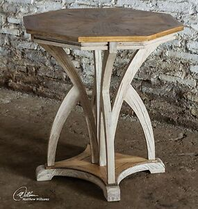 Aged-White-Carved-Wood-Accent-Table-Contemporary-Modern
