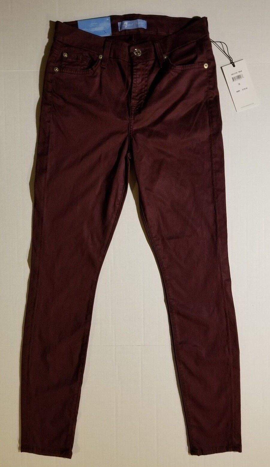7 FOR ALL MANKIND WOMENS B(AIR) ANKLE SKINNY MULBERRY JEANS NWT MSRP  179.00