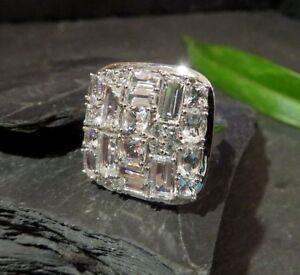 Gigantischer-925-Sterling-Silber-Ring-MDI-Baguette-Kubus-Quadrat-Modern-Designer