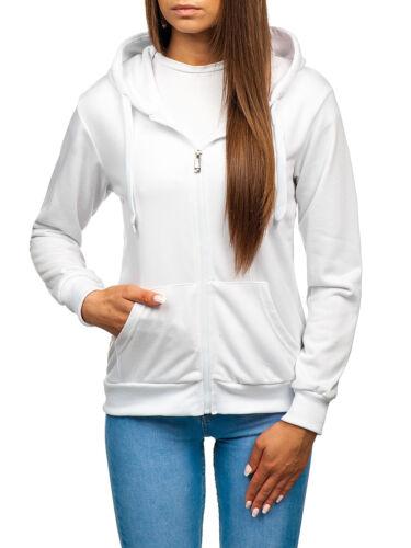 Kapuzenpullover Sweatjacke Sweatshirt Hoodie Unifarben Damen BOLF A1A Basic