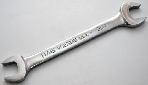 NEW Snap-On VO2224B Open-End Standard 11//16/'/'-3//4/'/' Chrome Wrench Made in USA