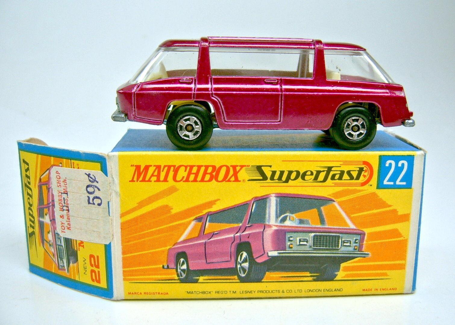Matchbox sf nr.22b freeman intercity lilamet top 1.kasten ohne aufkleber