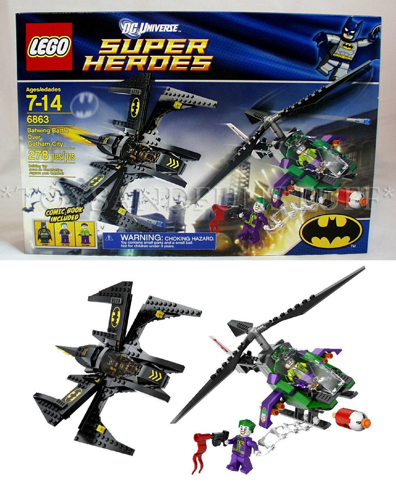 Nuovo - BATWING BATTLE Over GOTHAM CITY Super Heroes Lego 6863 - THE JOKER Batman