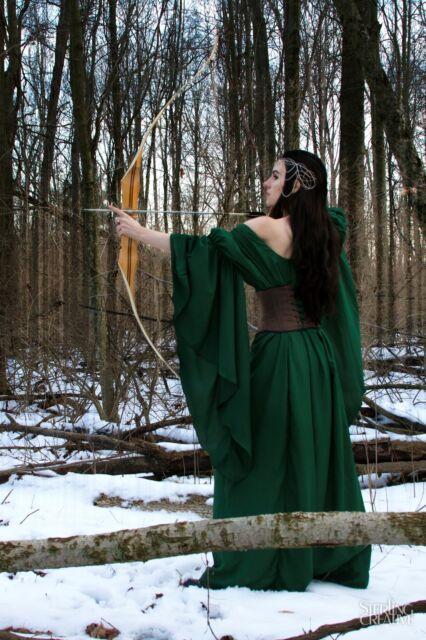 I-D-D Medieval Renaissance Faire Huntress Lady  Archeress Gown Dress