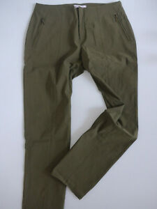 Sheego-Bengalin-Pants-Ladies-Size-42-to-54-Khaki-Tone-Zip-Pockets-593