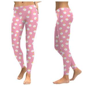 fce87b3c0dbf9 UK PINK CLOUD KAWAII LEGGINGS Gift Idea Yoga Pant Fitness Fun ...