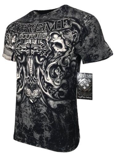 XTREME COUTURE by AFFLICTION Men T-Shirt HADES Skulls Biker MMA UFC S-4X $40