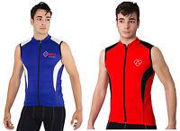 Hera International Mens Cycling Jersey Sleeve Less Biking Top Outdoors Sportswea