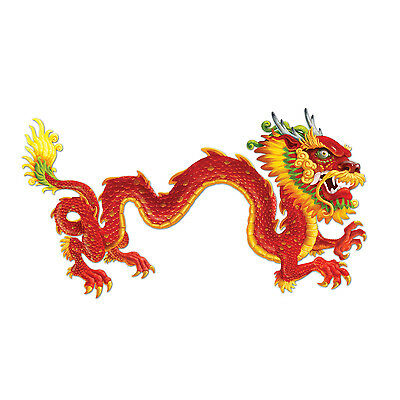 6ft Oriental Chinese Jointed Dragon Cutout - Chinese New Years Decorations