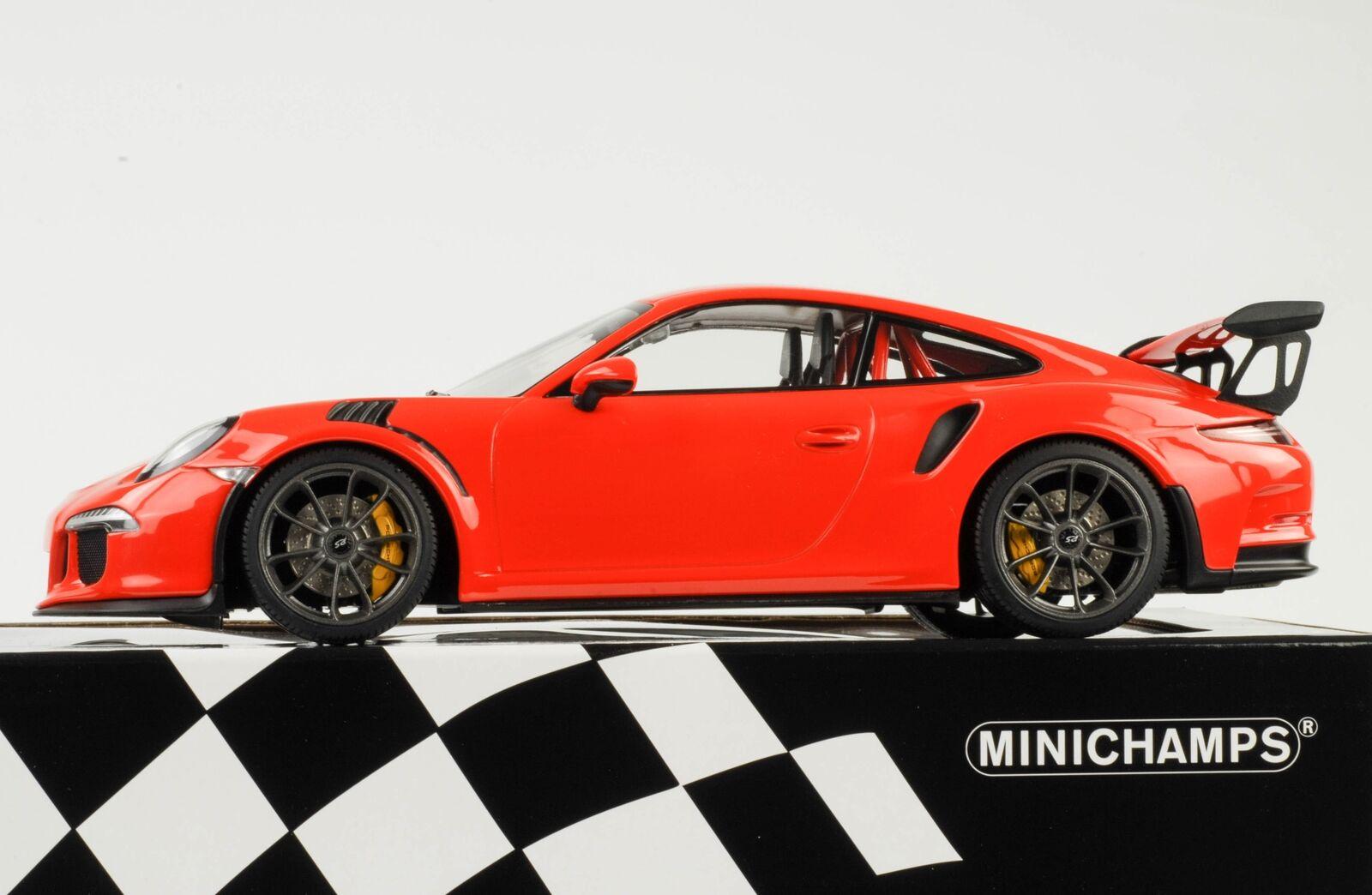 Porsche 911 991 gt3 rs lavaOrange 2015 1 18 Minichamps QUALITE
