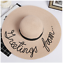 Summer-Fashionable-Women-039-s-Cursive-Embroidery-Adjustable-Beach-Floppy-Sun-Hat thumbnail 17