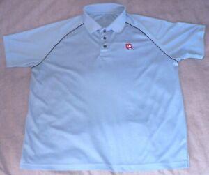 WALGREENS-HPI-Men-039-s-Large-Blue-Embroidered-Logo-SS-Employee-Uniform-POLO-Shirt