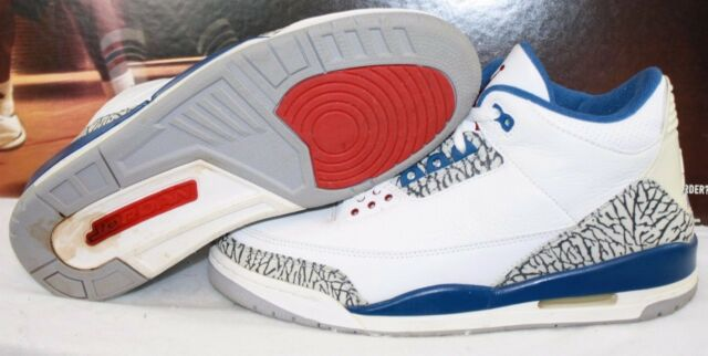 0208ac9d316c Frequently bought together. Preowned Mens Nike Air Jordan 3 Retro White Blue  ...