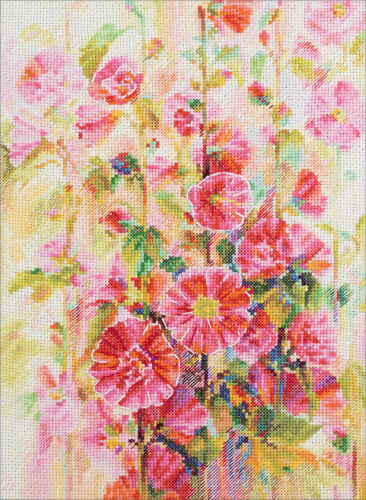"Counted Cross Stitch Kit PANNA ""Blooming Mallow"""